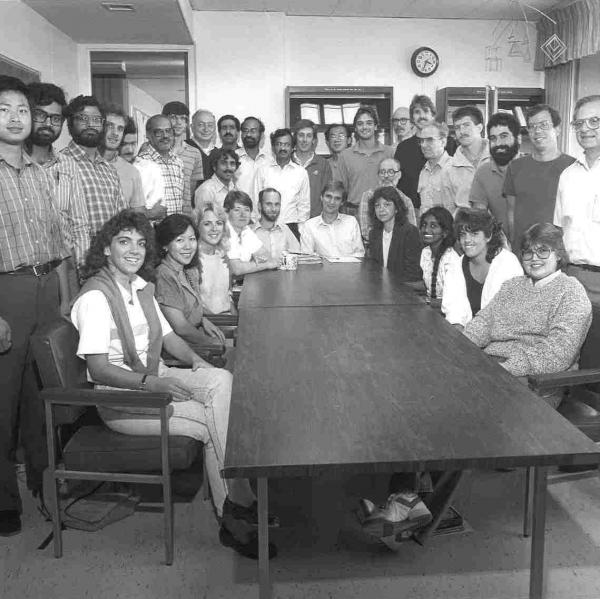1987 photo of PSTAT faculty and staff